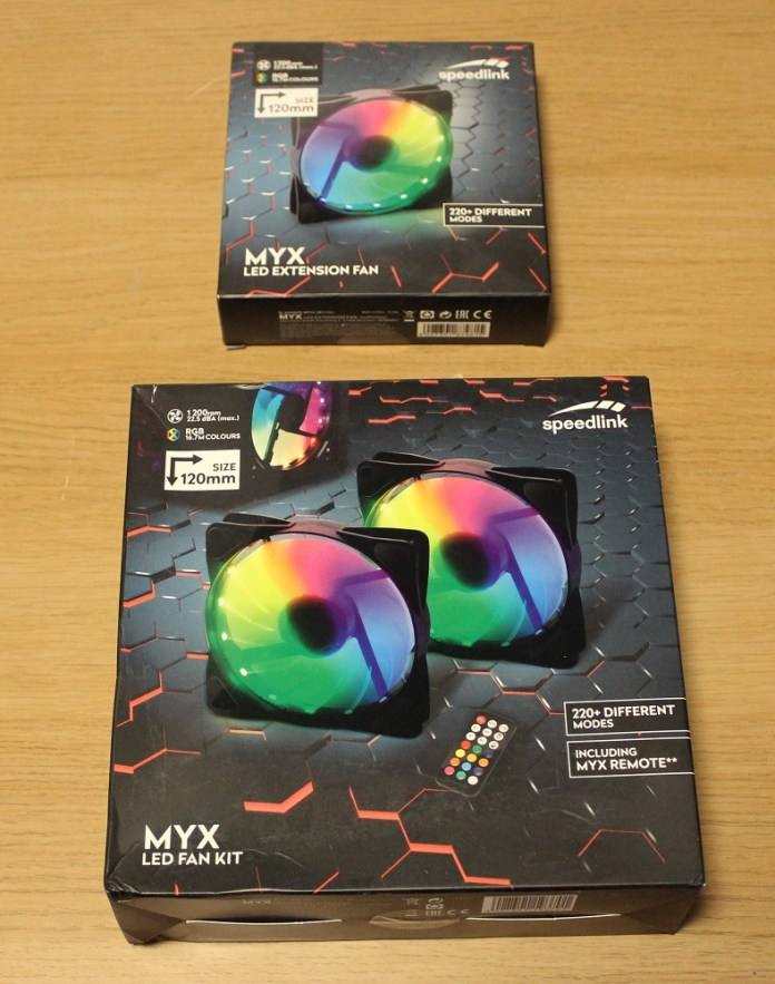 Speedlink MYX LED Fan Kit box top
