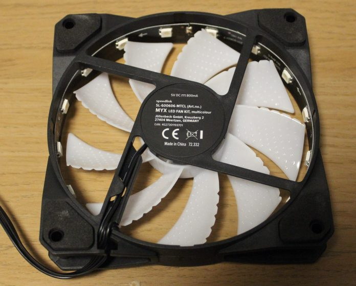 Speedlink MYX LED Fan rear
