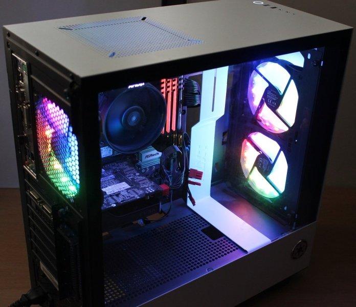Speedlink MYX LED fans rig assembled