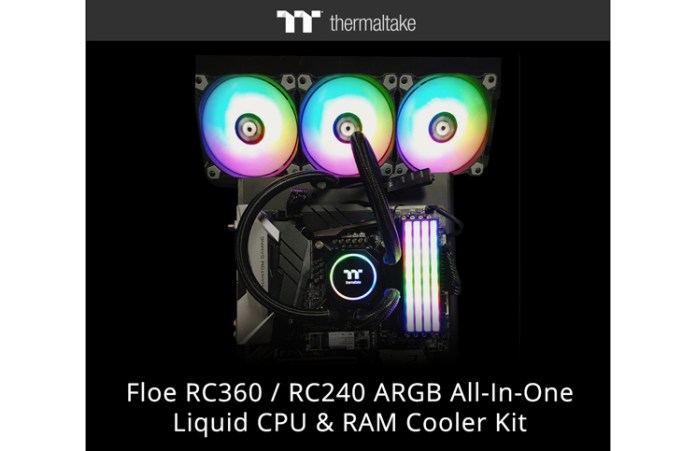 Thermaltake New Floe RC360 RC240 ARGB_1 Feature