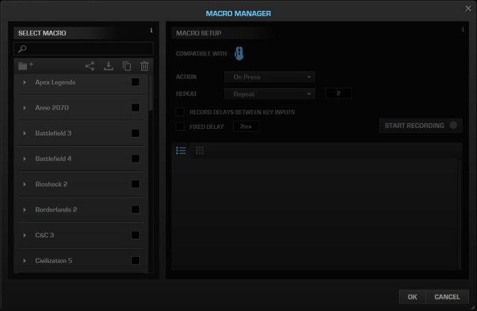 Roccat Kone Pure Ultra Swarm macro manager
