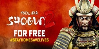 Shogun 2 total war banner with shogun 2 for free test and stay home save lives hashtag
