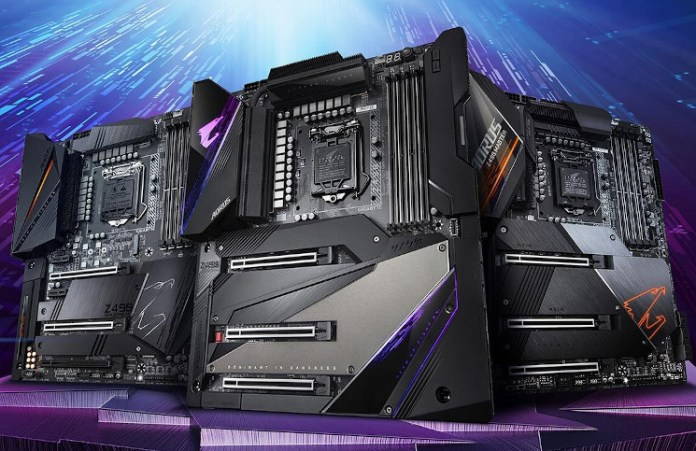 GIGABYTE Comet Lake Boards Shown: Fins, Daisies and Caps