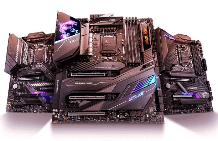 MSI Comet Lake Boards Shown: Z490 MEG, MAG and More