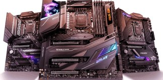 Three MSI comet lake boards: one meg, one mpg and one mag