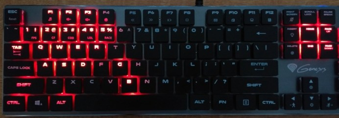 CF mode: F1, F2, F3, 1-5, tab, wasd, q, e, r, g, b, shift, ctrl, alt, home, end, page up and page down are illuminated.