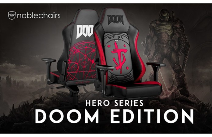 noblechairs HERO Gaming Chair DOOM® Edition Available Now!