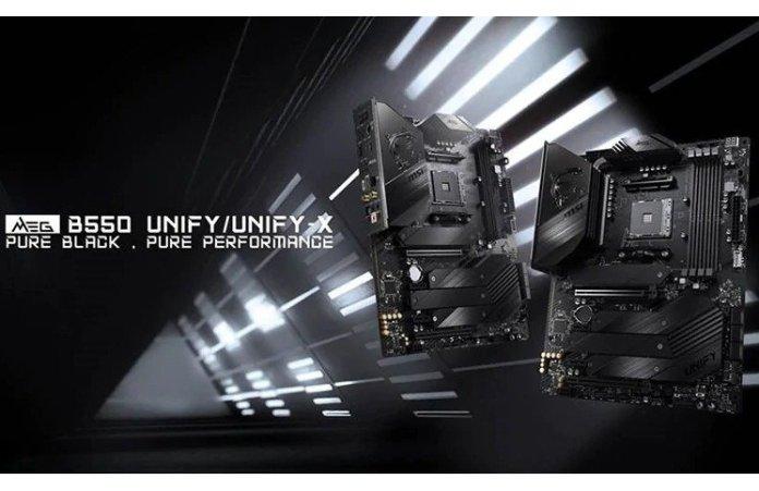 MSI MEG B550 Unify and Unify X