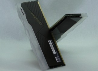 two klevv cras x rgb ddr4-3600 stick in the cross formation obligatory for every memory review
