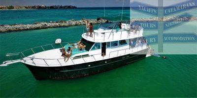 large 58-ft yacht