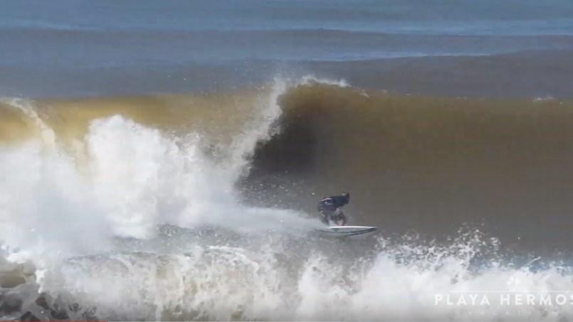 Surfing at Playa Hermosa, Costa Rica October 06, 2019