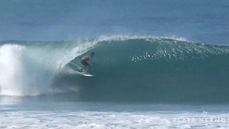 Surfing at Playa Hermosa, Costa Rica October 07, 2019