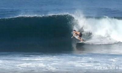Surfing at Playa Hermosa, Costa Rica February 1, 2020