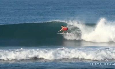Surfing at Playa Hermosa, Costa Rica February 9 & 11, 2020