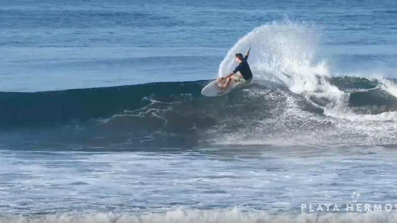 Surfing at Playa Hermosa, Costa Rica March 4, 2020