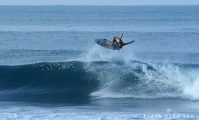 Surfing at Playa Hermosa, Costa Rica March 14, 2020