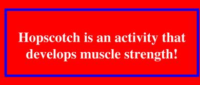 Hopscotch benefits