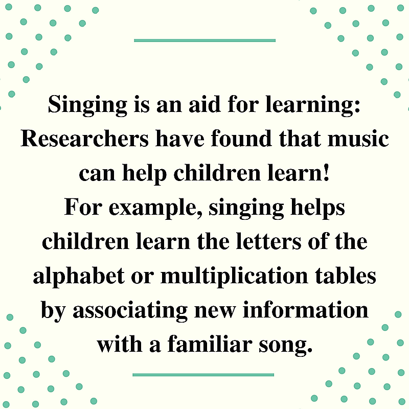 Singing helps Learning!