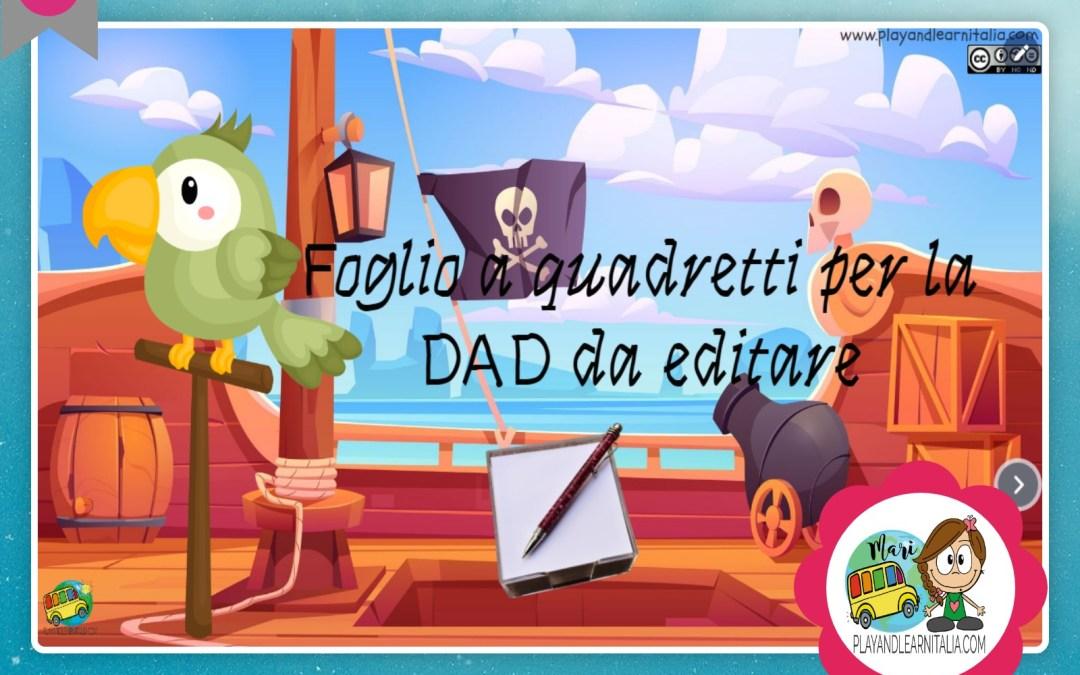 STRUMENTI UTILI PER LA DAD: block notes, fogli a quadretti e a righe