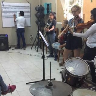 Bei der Ensemble-Probe