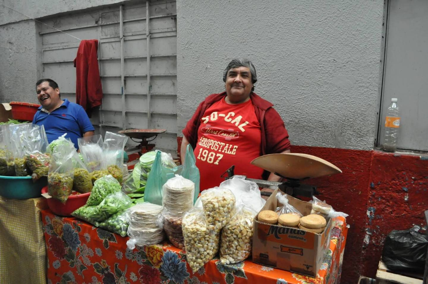 Small retail vendor in mercado de abastos, Guadalajara