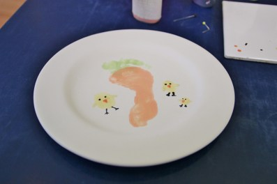 Carrot footprint and thumb print chicks.