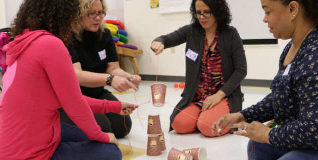 Organization leaders practice and test play theory practices