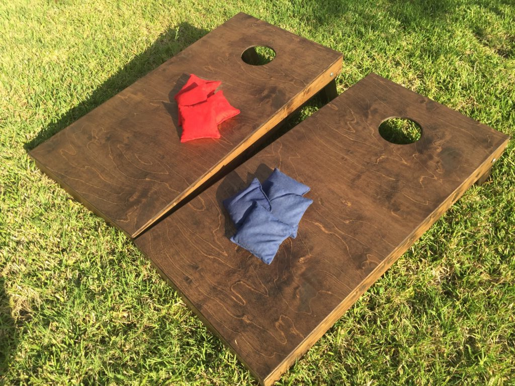products play backyard games