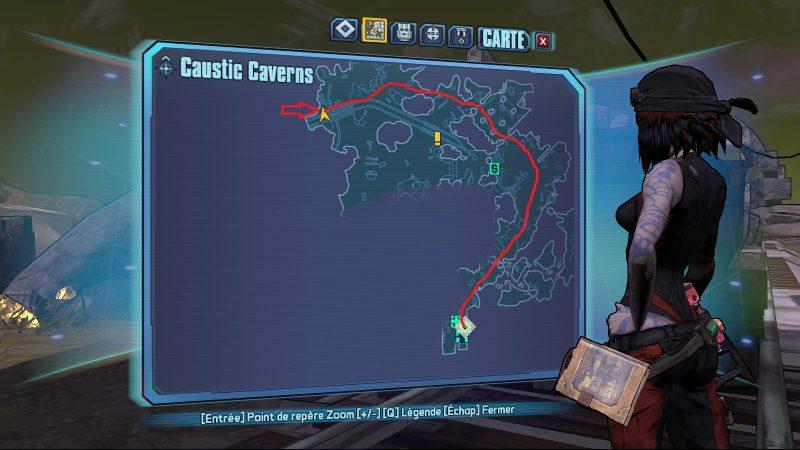 Borderlands 2 bl2 minecraft easter egg easteregg caustic caverns