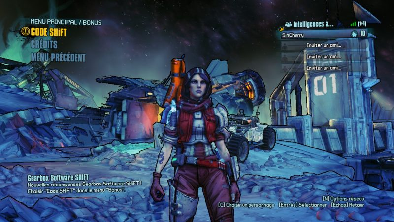 main menu borderlands pre sequel