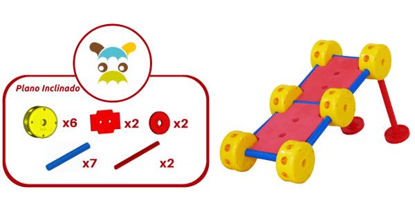 Plano Inclinado construido con 19 piezas de Broks