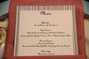 Foodie Friday: Formal Dinner Menu
