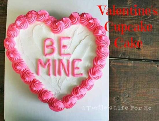 Heart Shaped Cupcake Cake