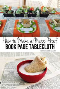 How to Make a Mess Proof Book Page Tablecloth