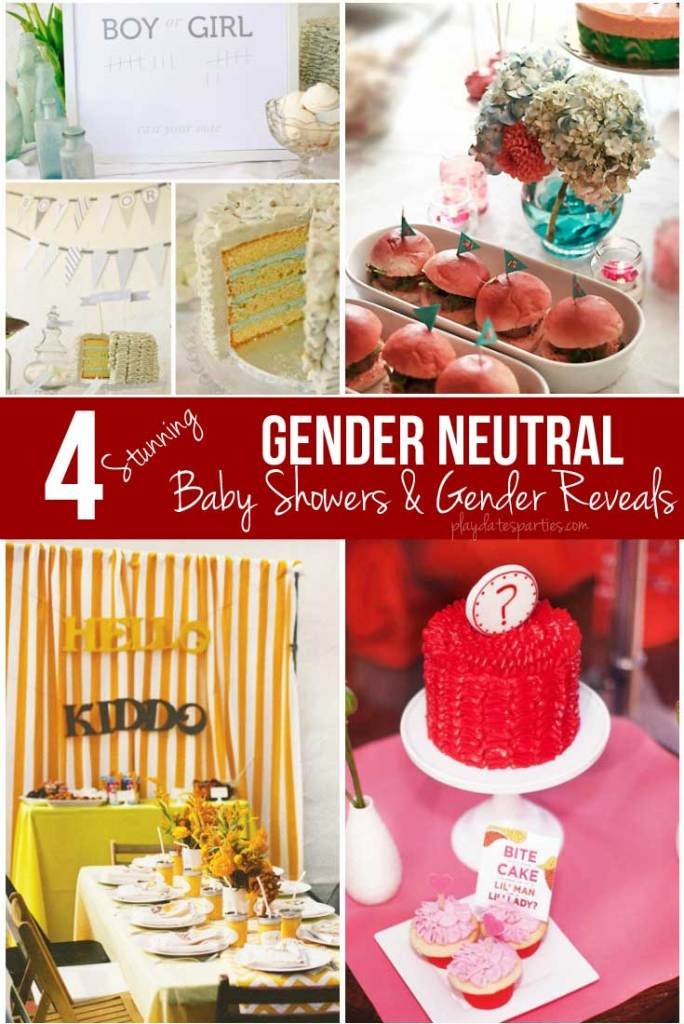 Even if you find out your baby's gender, this stunning gender neutral baby shower and gender reveal collection will make you second-guess blue and pink!