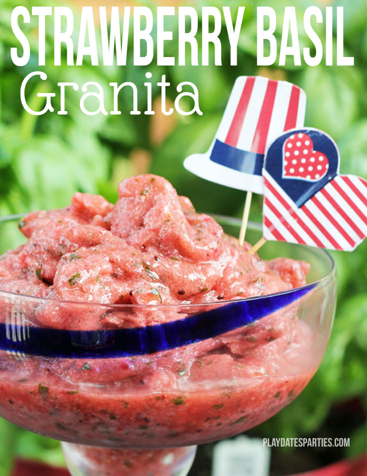 {Recipes} Strawberry Basil Granita