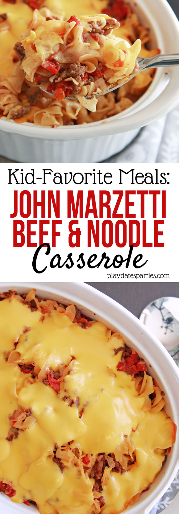 John Marzetti Noodle Casserole is an easy comfort food #recipe that everyone in the #family loves. Filled with ground beef and noodles, and smothered with a cheesy sauce, this is the ultimate in comfort food!