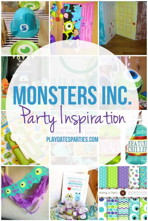 If your kid loves Monsters Inc and Monsters University, you need to see this collection of Monsters Inc party inspiration.