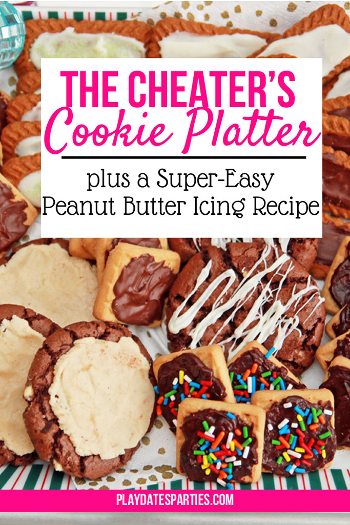 With a little bit of chocolate and this awesome peanut butter cookie icing recipe, you can turn store-bought cookies into an incredible cookie platter...in only 40 minutes!