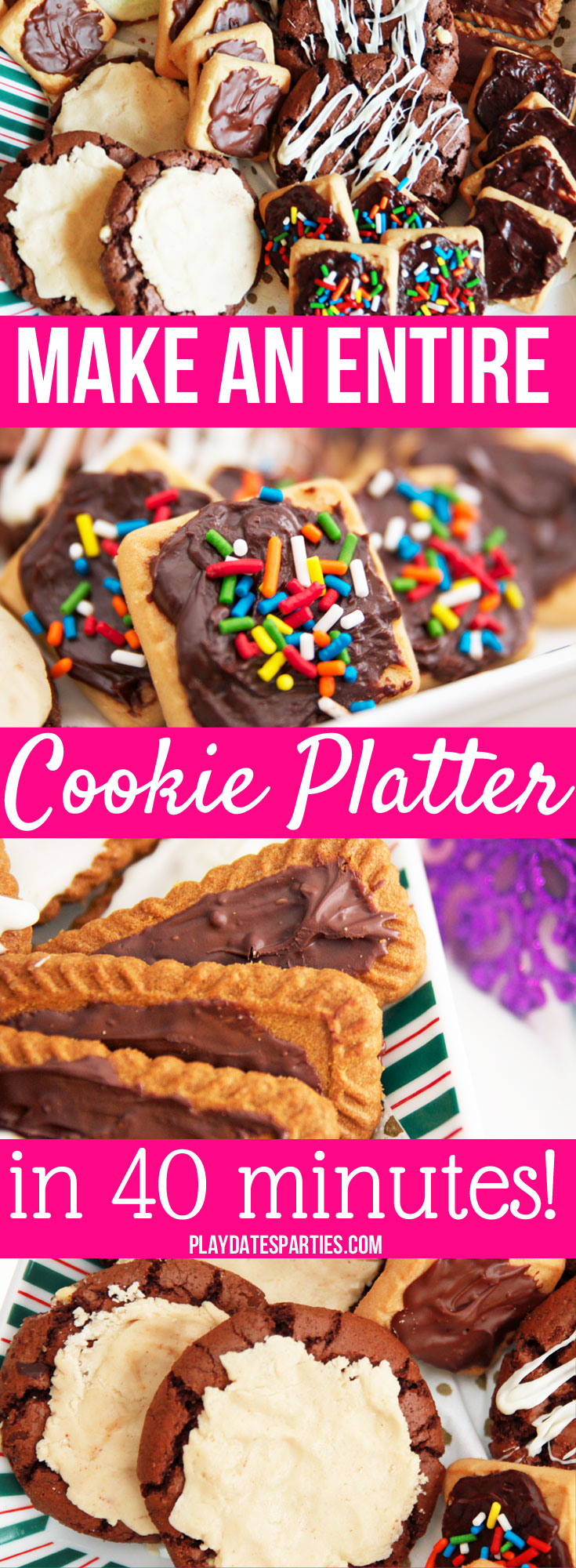 Some days you don't have time to make a whole platter of homemade cookies.  Instead, find out the best cookie platter tips to turn store-bought cookies into awesome 'homemade' treats...in only 40 minutes!