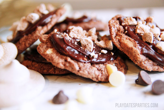 Inspired by the original Death by Chocolate cake from the Trellis in Williamsburg, VA these Death by Chocolate cookies are a mouthful of decadence.
