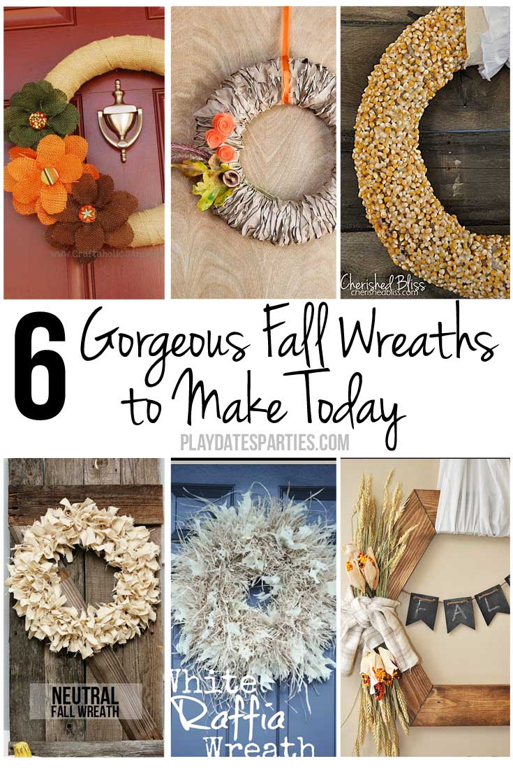 Greet your guests in style this fall with a rustic wreath on your front door. These six gorgeous fall wreaths are the perfect way to get started.