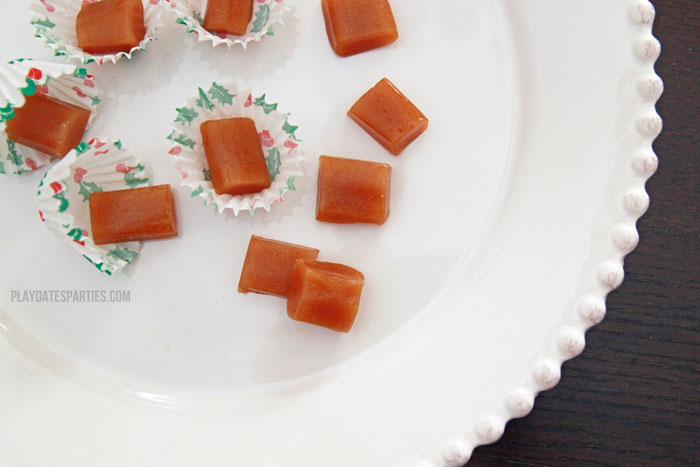 Bailey's Irish Cream caramels are the perfect grown-up version of a classic candy. The resulting flavor is creamy and sweet, with a perfect hint of coffee.