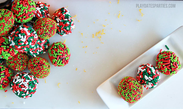 Perfect chocolate truffles melt in your mouth. Make them even better with a touch of liquor and sprinkles to make these holiday truffles with a boozy twist.