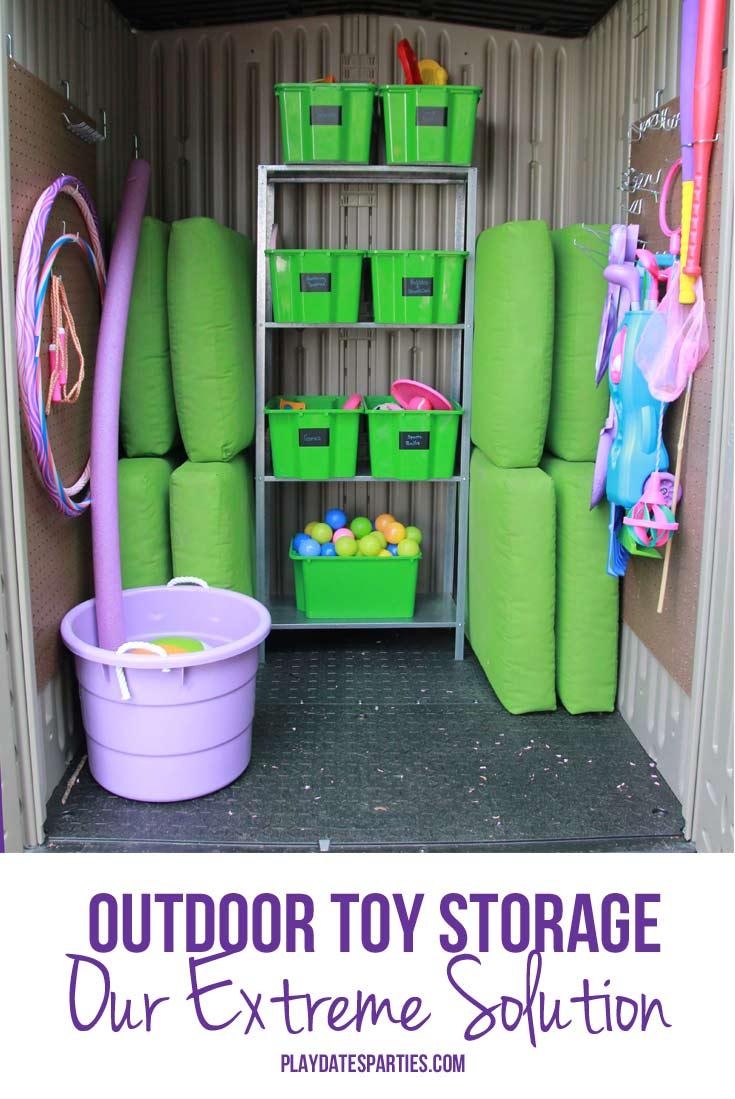 Wonderfully Crazy Outdoor Toy Storage (ORC Week 4)