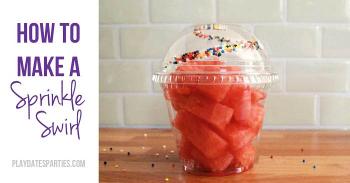 Sprinkles make everything better, don't they? Find out how to make a sprinkle swirl in a cup lid to wow your guests at your next party.