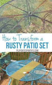 How to Paint Rusted Metal Furniture
