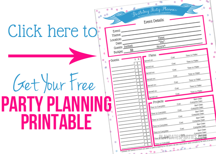 Party Planning Printable to Help Budget Your Party Planning Time in Addition to Everything Else!
