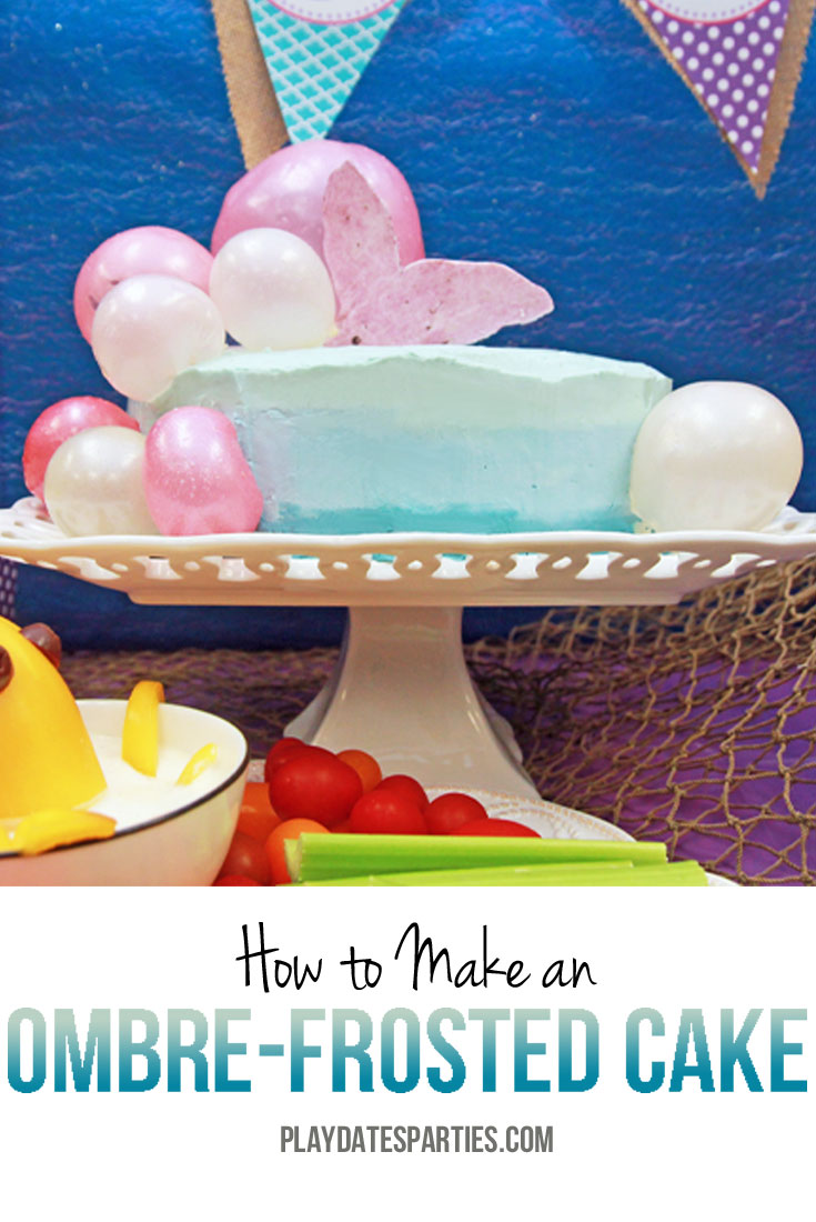 Making an ombre cake is easier than you think! Follow these easy steps to get a gorgeous ombre effect every time!