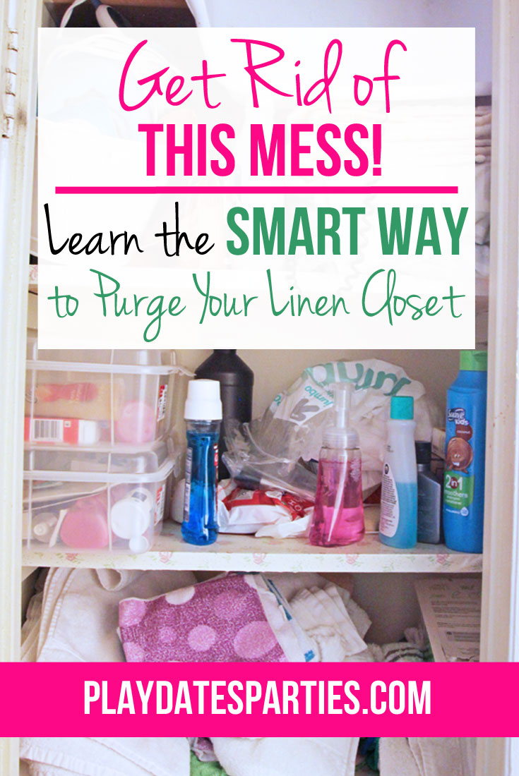 Stop making the same organizing mistakes over and over again. Find out the smart way to purge your linen closet once and for all.